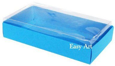 Caixinha para 1 Sabonete / Bijuterias - Azul Turquesa