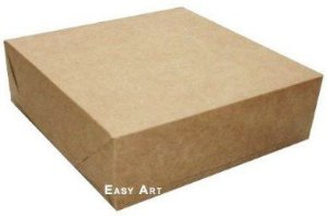 Caixa para Presentes ou 64 Doces - Kraft