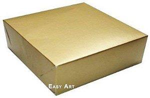 Caixa para Presentes ou 64 Doces - Dourado Brilhante