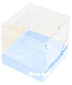 Caixinha para Mini Bolos - Azul Claro