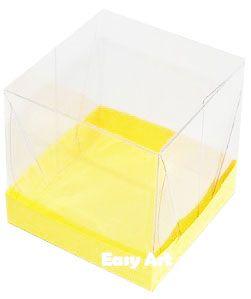 Caixinhas para Mini Bolos - Amarelo
