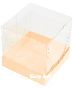 Caixinhas para Mini Bolos - Salmão