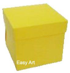 Caixinha para Mini Bolos - Amarelo