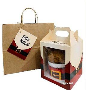 Kit para Panetone de 500g - Cinto Noel