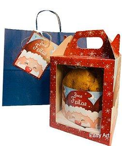 Kit para Panetone de 500g - Gorro Noel