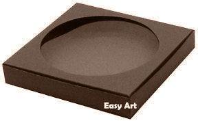Caixa para Biscoitos / Porta Copos - Marrom Chocolate - Pct com 10 Unidades