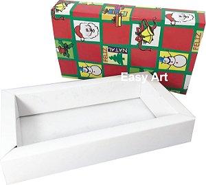 Caixas para 12 Brigadeiros Linha Premium - Estampa Natal