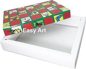Caixas para 20 Brigadeiros Linha Premium - Estampa Natal