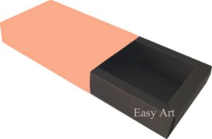 Caixa para 8 Brigadeiros Linha Color - Marrom Chocolate / Salmão