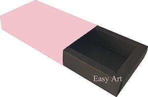 Caixa para 8 Brigadeiros Linha Color - Marrom Chocolate / Rosa Claro
