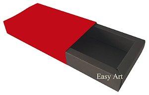Caixa para 8 Brigadeiros Linha Color - Marrom Chocolate / Vermelho