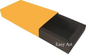 Caixa para 8 Brigadeiros Linha Color - Marrom Chocolate / Laranja Claro