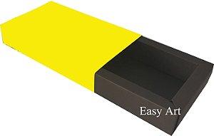 Caixa para 8 Brigadeiros Linha Color - Marrom Chocolate / Amarelo