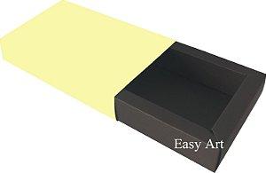 Caixa para 8 Brigadeiros Linha Color - Marrom Chocolate / Marfim
