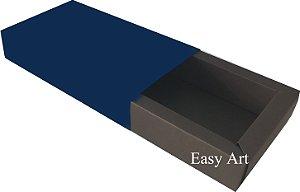 Caixa para 8 Brigadeiros Linha Color - Marrom Chocolate / Azul Marinho