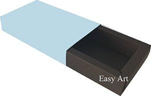 Caixa para 8 Brigadeiros Linha Color - Marrom Chocolate / Azul Claro