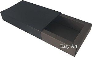 Caixa para 8 Brigadeiros Linha Color - Marrom Chocolate / Preto
