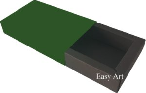 Caixa para 8 Brigadeiros Linha Color - Marrom Chocolate / Verde Musgo