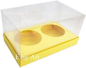 Caixas para 02 Mini Panetones - Amarelo