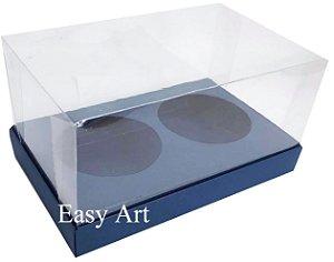 Caixas para 02 Mini Panetones - Azul Marinho