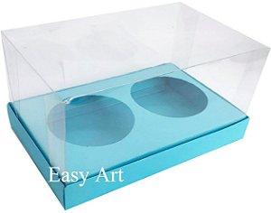 Caixas para 02 Mini Panetones - Azul Tiffany