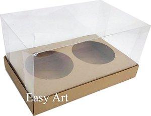 Caixas para 02 Mini Panetones - Marrom Claro