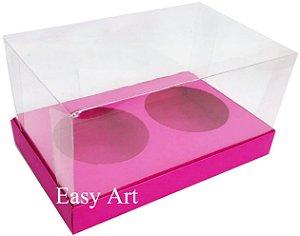 Caixas para 02 Mini Panetones - Pink