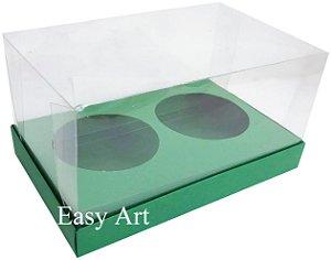 Caixas para 02 Mini Panetones - Verde Bandeira