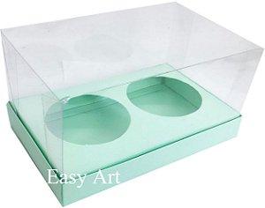 Caixas para 02 Mini Panetones - Verde Claro
