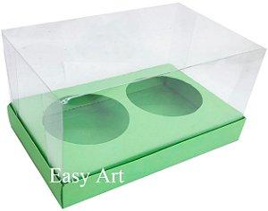 Caixas para 02 Mini Panetones - Verde Pistache