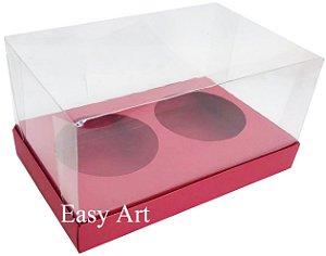 Caixas para 02 Mini Panetones - Vermelho