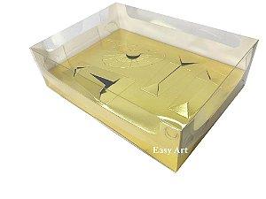 Caixa Kit Confeiteiro Ovos de 50g ou 150g / 22x16x6,5 - Dourado Brilhante
