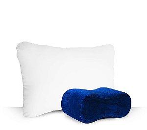 Kit Travesseiro Fibra Siliconizada + Apoio para Joelho