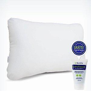 Travesseiro Fibra Siliconizada P/M/G + QuiroFreeze Grátis