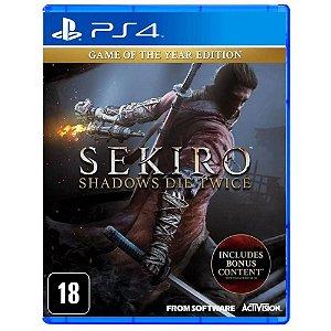 Sekiro Shadows Die Twice Edição Game do Ano PS4
