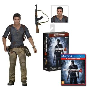 Nathan Drake Articulado Neca + Uncharted 4: A Thief's End PS4