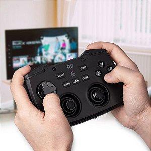 Controle e Teclado Sem Fio 2.4 Ghz Com Touchpad Para Jogo