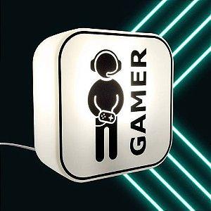 Luminária Abajur de Mesa e Parede - Modelo Gamer