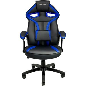 Cadeira Gamer MX1 Giratoria Preto Azul Mymax