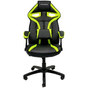 Cadeira Gamer MX1 Giratoria Preto Verde Mymax