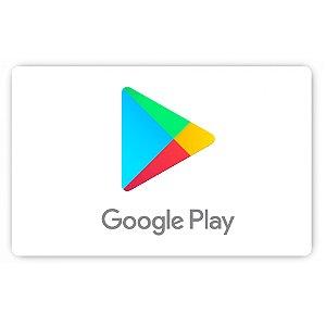 Cartão Presente Google Play