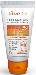 Protetor Solar Biozenthi Tonalizante Bege Médio Fator FPS35 - 60g