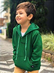 Casaco Moletom Hawewe Mini Infantil Com Capuz Verde
