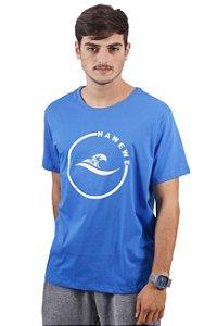 Camiseta Hawewe Surf Onda Coqueiros Azul