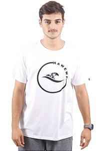Camiseta Hawewe Surf Onda Coqueiros Branca