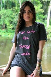 Camiseta Hawewe Estonada Se Todo Dia Tivesse Onda