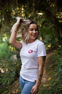Camiseta Hawewe Hibiscus Branca