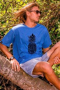 Camiseta Hawewe Pineapple Tiki Azul