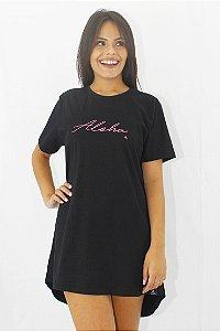 Vestido Hawewe Aloha Preto
