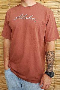 Camiseta Hawewe Aloha Marrom